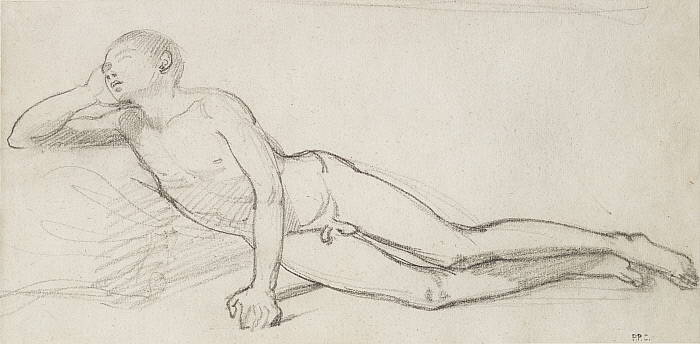 Reclining Nude Youth, Study for Orpheus