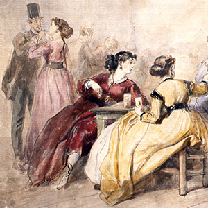 Young Ladies in a Cabaret