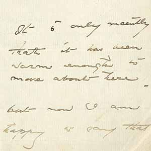 Letter to Edward Adams