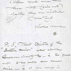 Letter to M. Knoedler & Co.