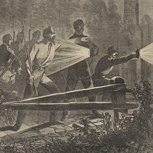 Rebels Outside Their Works at Yorktown Reconnoitring with Dark Lanterns