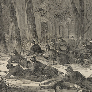The Army of the Potomac—Our Outlying Picket in the Woods