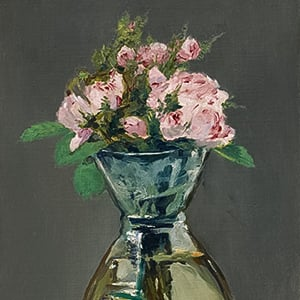Moss Roses in a Vase