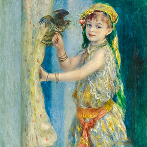 Child with a Bird (Mademoiselle Fleury in Algerian Costume)