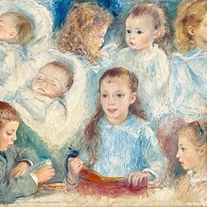 Sketches of Heads (The Berard Children)