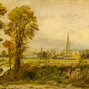 Distant View of Salisbury Cathedral