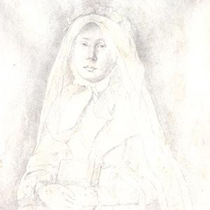 Marguerite de Gas in Confirmation Dress