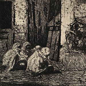 """Mariano Fortuny """"Tangiers: Seated Arabs"""""""
