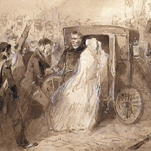 Louis-Philippe Escaping from Paris by Fiacre during the 1848 Revolution