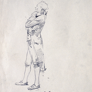 Study for Robespierre in the Panorama of the Nineteenth Century