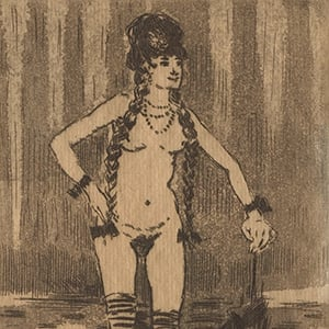 Rejected frontispiece for Marthe, novel by J. K. Huysmans