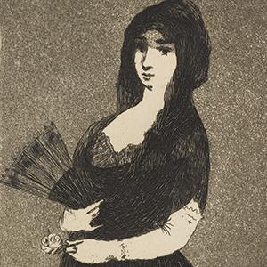 Exotic Flower (Woman in a Mantilla)