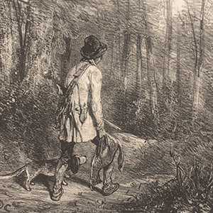 Gamekeeper Returning Home with Dead Fox and Basset Hound (No. 12)