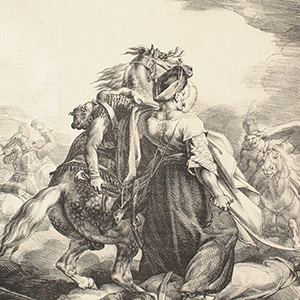 Mameluck Defending a Wounded Trumpeter