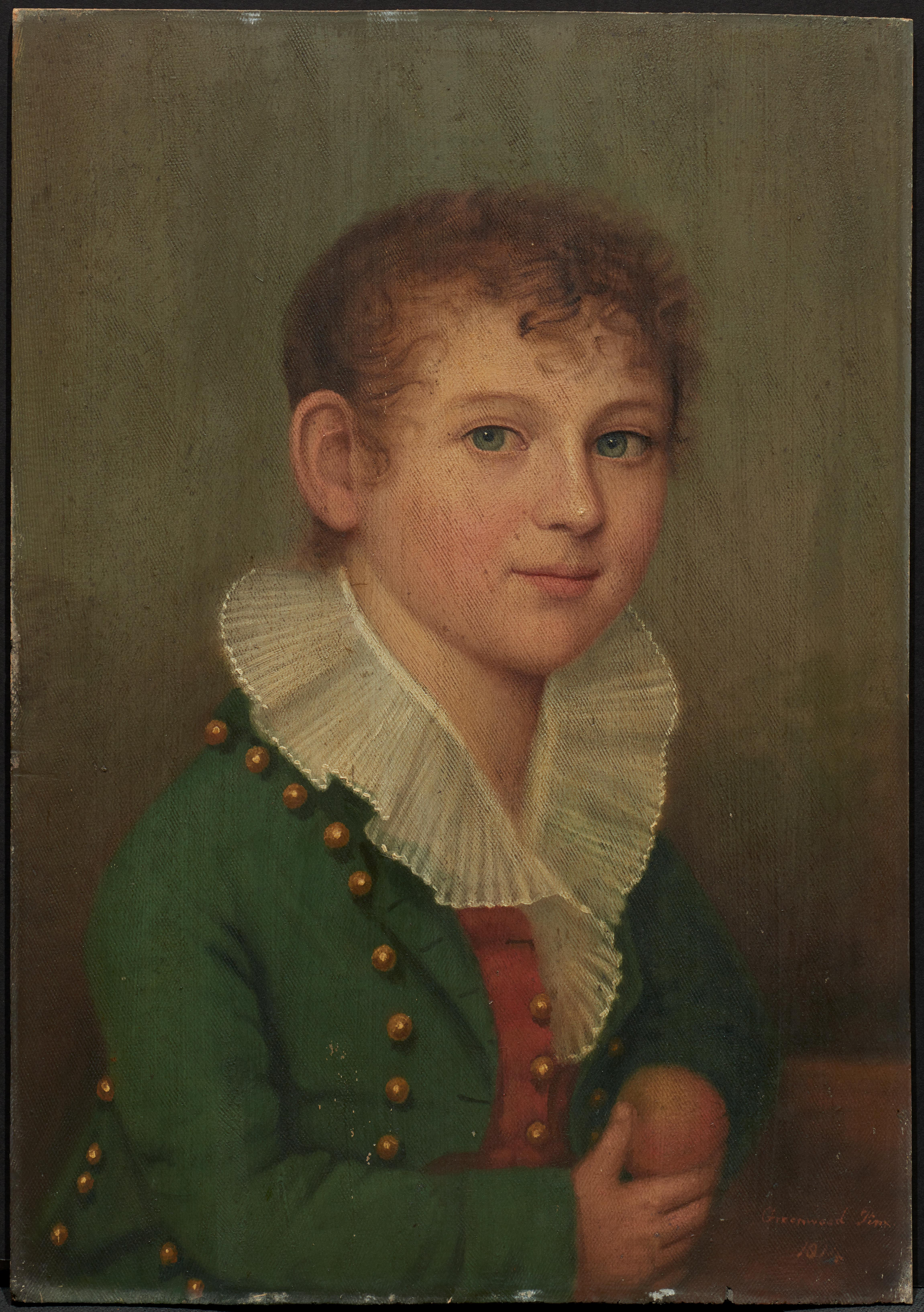 A Young Boy (one of pair of portraits)