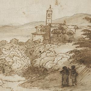 A View of Sant' Agnese Fuori le Mura